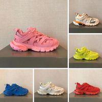 Designer di marca di lusso Donne da donna Cusual Shoes Track 3.0 Scarpe da ginnastica Scarpe da ginnastica in cuoio Nylon Stampato 3M Triple S Platform Fashion Top Quality con scatola