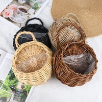 Seagrass Wickerwork Basket Rattan Hanging Plant Planting Flower Pot Storage Laundry Cesta Mimbre Home Garden Decorative Other Supplies