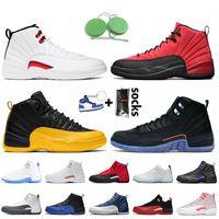 Nike Air Jordan 12 12s Jordan Retro 12 Mens Basketball Shoes 2021 Top Quality With Box Twist Jumpman Flu Game University Gold Concord Indigo Taxi Trainers Sneakers