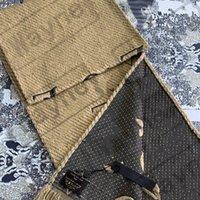Moda Clássica Homens Mulheres Lenço de Lenço Luxo com Etiqueta Algodão Cashmere Lambswool Cardiças Écarpe de Luxe Sciarpa di Lusso Firmata