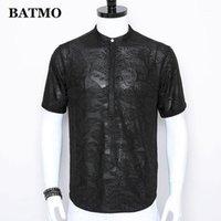 Batmo 2021 Новое Прибытие Лето Высокое Качество Жаккардовые Повседневные Рубашки Мужчины, Мужские Модные Рубашки, Плюс-Размер M-3XL CY711