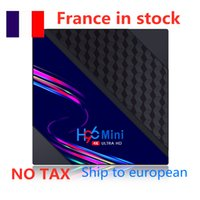 Ship from france H96 Mini V8 Smart TV Box Android 10 2GB 16GB Media Player Set top 2.4G Wifi RK3228A