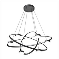 Chandeliers Modern Led 3 Circle 6 Heads Nordic Simple Atmosphere Living Dining Room Lighting Decoration Wire Fixtures Luminaire