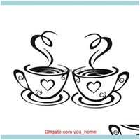 Stickers Décor & Gardendurable Coffee Cup Wall Kitchen Decal Art Mural Sticker Decoration For Home Cafe Restaurant Diy Drop Delivery 2021 J0