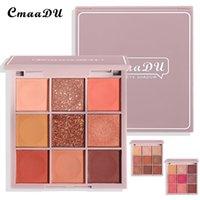 CmaaDu 9 Color Glitter Shadow Pearl Eyeshadow Waterproof Metallic Brighten Makeup Eye Palette