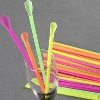 PEES BEBIDAS 50 unids útiles reutilizables de plástico de la paja Herramientas de té desechables de la barra lavable Accesorio accesorio de cocina Limpie suministros