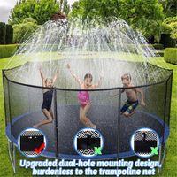 ABD Hakkında Havuz Spor 26ft Yağmurlama Trambolin Aksesuarları Yaz Açık Meme Parkı Oyuncaklar Yüksek Su Basıncı
