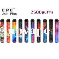 EPE Unik Plus starter kit New Disposable Vape Pen e cig 2500puffs 9.5ml 1600mah 16colors Vaporizer Kits