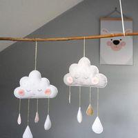 Obiekty dekoracyjne Figurki Słodkie Uśmiechnięte Chmury Wiatr Baby Kids Room Przedszkole Home Cloud Raindrop Wall Wiszące Dekoracje Naklejki Naklejki Prezenty 1