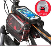 Backpack Material Waterproof Bicycle Bag Bike Frame Front Top Tube Touch Screen For Moilbe Phone MTB Moutain Road
