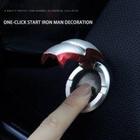 Auto Interieur Modificatie Iron One-Key Start Knop Bescherming Cover Sticker Ontstekingsapparaat Schakelaar Metalen Decoratie