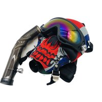 Silicone Gas Mask With Acrylic Bong Water Pipes Tobacco Hookah Tube Oil Rig Shisha Smoking Accessory Full Set Face Shield DHL