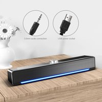 HIFI Wireless Bluetooth-compatible Speakers Column Stereo Bass Sound Bar USB Subwoofer Computer TV With 3.5mm Audio Plug