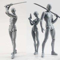 14cm Künstlerkunst Malerei Anime Figur SHF Skizze Draw Männlich Weibliche Bewegungskörper Chan Gelenk Action Figure Spielzeug Modell Draw Mannequin