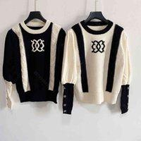 Designer Donne Donne Maglione lavorato a maglia CC Brand Wool Knitting Felpa con cappuccio Manica Lunga Manica luna Cappotti Giacche Collo girocollo Jacquard Design Vestiti da donna