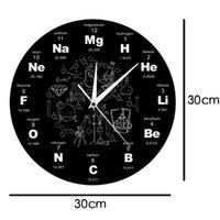 Wall Clocks Periodic Table Art Clock Display Teacher's Gift Classroom School Pow Guess Women 50ZB27