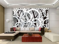 Wallpapers Beautiful Scenery Tree Branch 3D Ring Stylish Background Wall Modern Wallpaper For Living Room