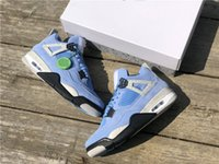2021 릴리스 남성 농구 신발 4 4S SE University 파란색 점프맨 패션 트레이너 Luxurys 디자이너 스니커즈 크기 40--47.5 상자