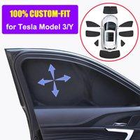 Sunshade Custom-Fit for Tesla Model 3 Y 2021 Car Side Window Privacy Sun Shade Skylight Blind Shading Net Front Rear Windshield