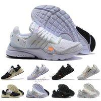 Presto 고품질 블랙 화이트 스포츠 신발 디자이너 쿠션 여성 남성 브랜드 트레이너 야외 운동화 크기 36-45