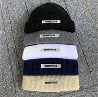 21ss Essentials Sis Beanie Örme Şapka Soğuk Kafatası Cap Caps Korku Tanrı Sokak Seyahat Balıkçılık Rahat Sonbahar Sıcak Açık Spor HFHLMZ002