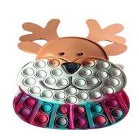 Fidget oyuncaklar Noel elk messenger çanta silikon itme kabarcık duyusal rahatlama stres anahtarlık yetişkin çocuk otizm antistress oyuncak için yüksek