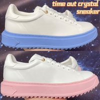 أعلى جودة الوقت خارج كريستال حذاء رياضة الأحذية النسائية المدربين الجامعة الأزرق الوردي الأبيض أزياء المرأة أزياء المرأة أحذية رياضية الحجم 35-40