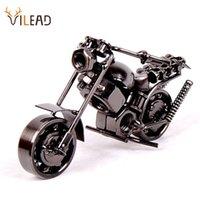 Vilead 14cm Motorrad Modell Retro Motor Figur Metall Dekoration Handgemachte Eisen Motorrad Prop Vintage Wohnkultur Kind Spielzeug 210318