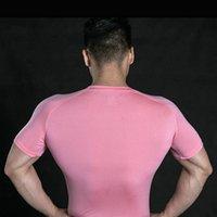 Männer Frühling Sporting Top Trikots T Shirts Sommer Kurzarm Fitness T-Shirt Baumwolle Herren Kleidung Sport T-Shirt 131
