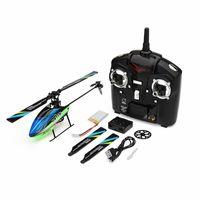 Wltoys v911s 2.4g 4ch 6-Aixs giroscópio Flybarless Helicóptero RC RTF modelo brinquedos w / 3 pcs 3.7V 250mAh bateria lipo 210325
