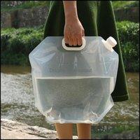OutdoorStailly Water Bags Feste Farbe Verschleißfeste Zusammenklappbare Outdoor Sports Wandern Faltbare Lagerbehälter Drop Lieferung 2021 Ignk