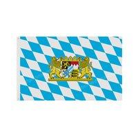 Bavyera Bavyera Bayrakları Aslan Crest Alman Almanya Bayrağı 90x150 cm 3 * 5ft Özel Banner Metal Delikler Grommets