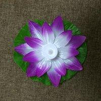 LED Lotus Lamba Renkli Değişen Yüzer Su Havuzu Dileğiyle Işık Fener Flameless Mum Lotus Parti Decorati Için Çiçek Lambaları