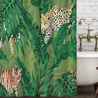 Shower Curtains Beautiful Flower Palm Leaf Cactus Curtain Windproof Bathroom Decoration Home Furnishing