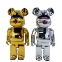 New 400% 28cm bearbrick Konyamaki Kyoto cooperation building block bear, ABS material, digital toy collector Be@rbrick Art Work model decoration toys gif