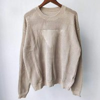 디자이너 풀오버 여성 스웨터 고품질 레트로 편지 자카드 밖으로 크루 목 점퍼 카디건 니트 캐시미어 스웨터 여성 가을 의류 코트