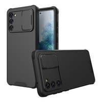 Phone Cases For Iphone 13 12 Mini 11 Pro Max XR XS X 8 7 6 Plus Slide Camera Lens Protection Hybrid PC TPU Cellphone Case Back Cover Samsung A50 A52 A72 S20 FE