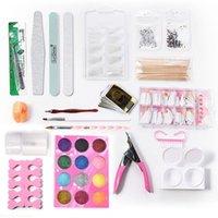 Nail Art Kits 2Pc Painted Pens Set 2 Pack Rhinestones Manicure Kit False Fake Finger Polishing Blocks Tools Sticker