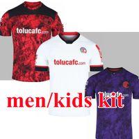 Liga MX 2021 México Deportivo Toluca Futebol Jerseys Home Away Men Kids + Kit 3Rd 20 21 Raúl López Alexis Canelo Michael Estrada Futebol Camisa
