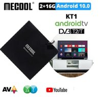 Mecool KT1 TV Box Android 10 G00gle Certificated DVB-T T2 Amlogic S905X4 AV1 4K 2T2R Dual WIFI BT Media Player Set Top-Box