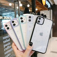 Clear Cases Candy Transparent Bling Glitter Phone Case For iPhone 11 12 mini Pro Max XS X XR 7 8 6 6S plus SE Soft Shockproof Cover