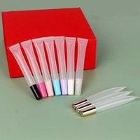 도매 빈 긴 립글로스 짜기 소프트 튜브 립 밤 립글로스 컨테이너 포장 화장품 15ml