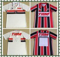 1993 1994 Sao Paulo Retro Jerseys de fútbol Inicio Alejado Negro Rojo 93 94 Camisetas De Futbol Classic Fútbol Vintage Camisetas Top Calidad