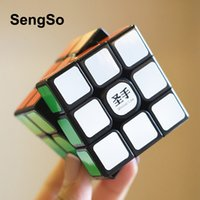 Sengso shengshou 3x3 legenda s mágica-cubo preto 3x3x3 cubos de velocidade 5.6cm enigma profissional girando lisas cubos magicos brinquedos