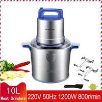 Moedores de carne 10lmeat Moedor elétrico Aço Inoxidável Automático para processador de misturador de cortador de vegetais e frutas