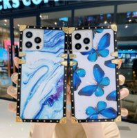 Luxury designer Square Phone Cases For iPhone 13 12 11 Pro XS Max XR X 7 8 Plus Fashion Cover ForGalaxy S21 S20 S10 Note 20 10 case