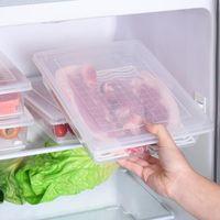 Storage Bottles & Jars 2PC Kitchen Refrigerator Box Food Containers Preservation Refrigerated Bins Lid For Fridge J50