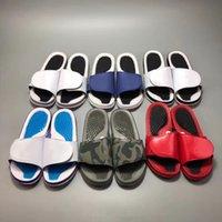 Designer sandalen männer basketball gleitet pantoffel flache flip flops einstellbare schuhe frauen sandalen party strand rutschen mit box big sz us 13
