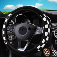 Car Steering Wheel Cover Universal Car Accessories Auto Steering Covers Diameter 38cm Plush Fabric Auto Decoration Car-styling