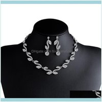 & Sets Jewelrydesigners Fashion Necklace Earrings Bridal Jewelry Set Nkn31 Drop Delivery 2021 Tbp7F